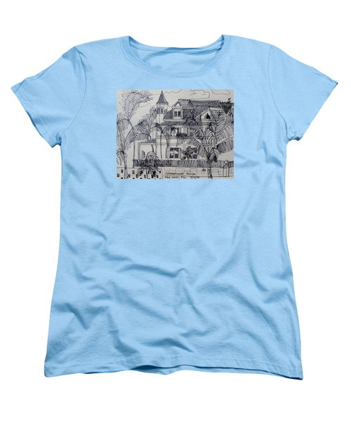 Southernmost House  Key West Florida Women's T-Shirt (Standard Cut) by Diane Pape