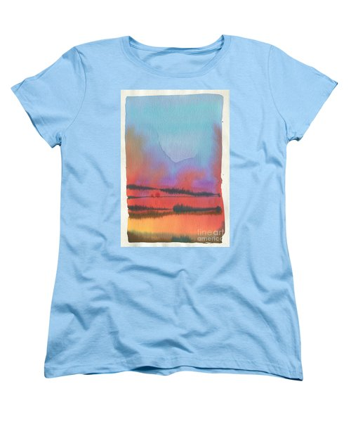 Women's T-Shirt (Standard Cut) featuring the painting Southland by Donald Maier