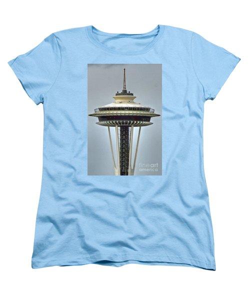 Space Needle Tower Seattle Washington Women's T-Shirt (Standard Cut)