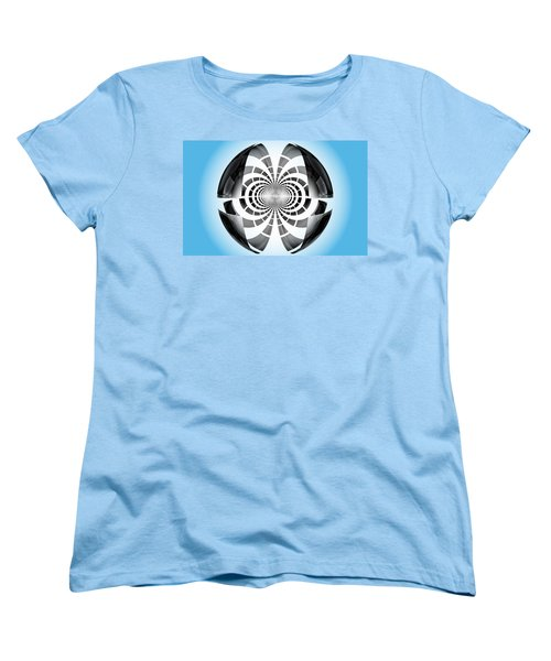 Women's T-Shirt (Standard Cut) featuring the digital art Spheroid by GJ Blackman