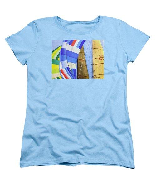 Spinnakers Women's T-Shirt (Standard Cut) by Stan Tenney