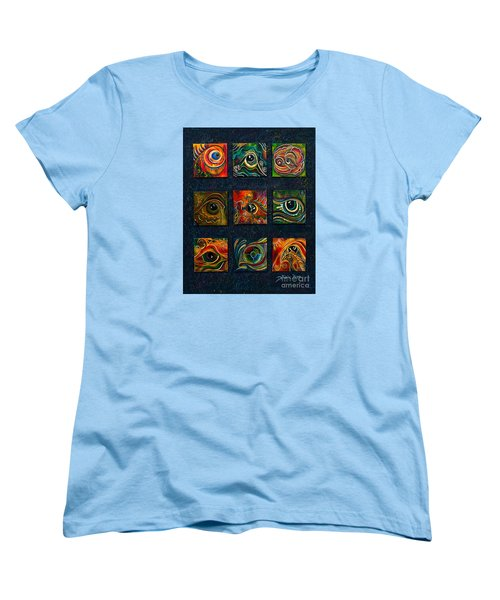 Women's T-Shirt (Standard Cut) featuring the painting Spirit Eye Collection I by Deborha Kerr