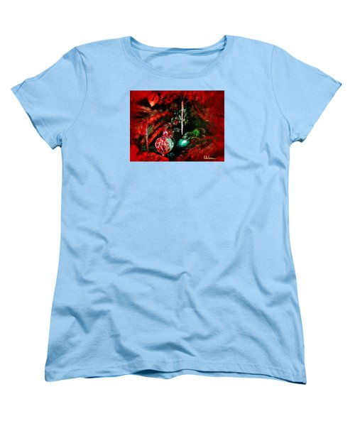 Women's T-Shirt (Standard Cut) featuring the painting Spirit Of Christmas by LaVonne Hand