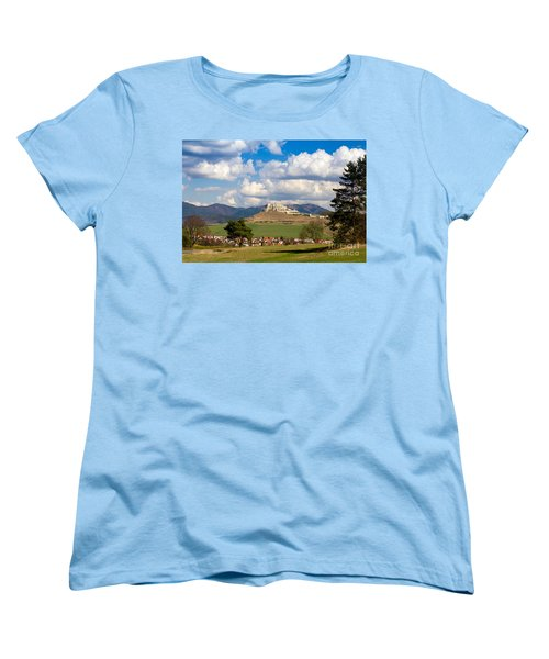 Women's T-Shirt (Standard Cut) featuring the photograph Spissky Hrad - Castle by Les Palenik