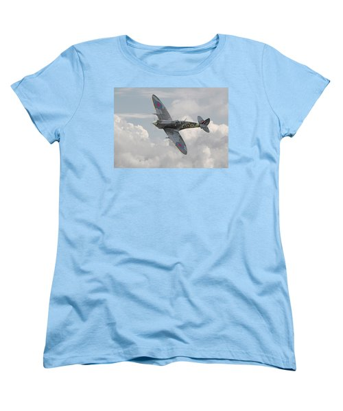 Spitfire - Elegant Icon Women's T-Shirt (Standard Cut) by Pat Speirs