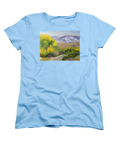 Split Mountain On Golf Course Road Women's T-Shirt (Standard Cut) by Sherril Porter