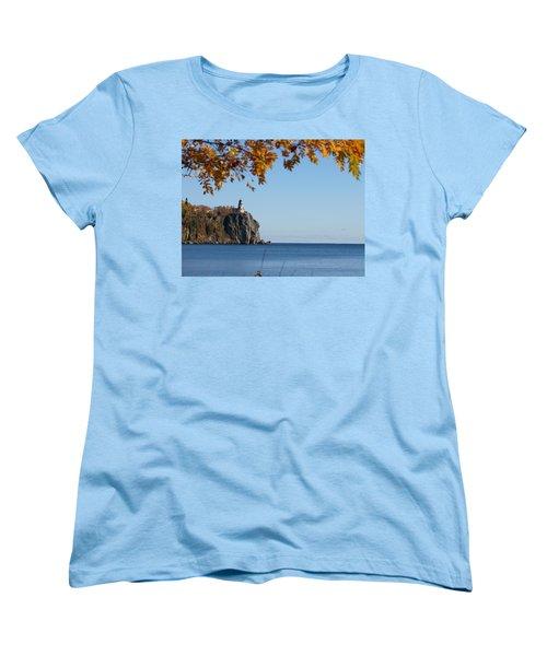 Split Rock Leaves Women's T-Shirt (Standard Cut) by James Peterson
