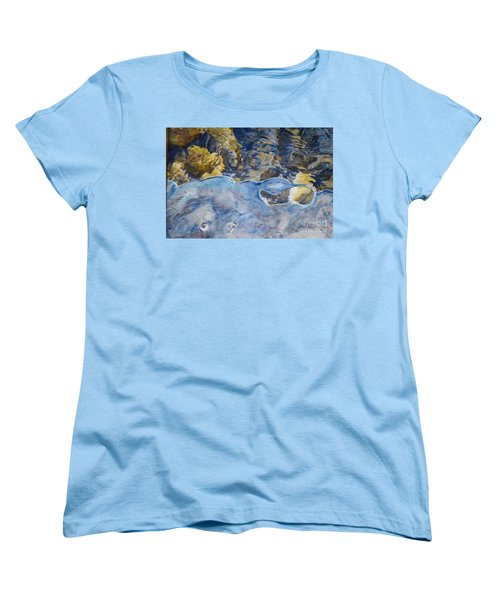 Women's T-Shirt (Standard Cut) featuring the photograph Spring Drawing A Line In The Ice  by Brian Boyle