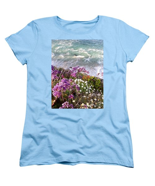 Women's T-Shirt (Standard Cut) featuring the photograph Spring Greets Waves by Susan Garren