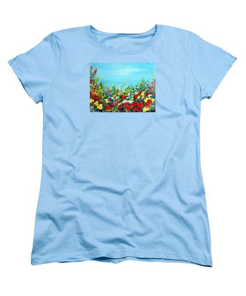 Spring In The Garden Women's T-Shirt (Standard Cut) by Teresa Wegrzyn