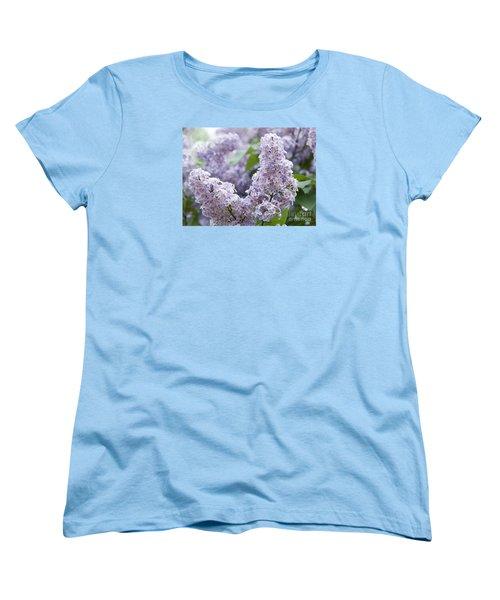 Spring Lilacs In Bloom Women's T-Shirt (Standard Cut) by Juli Scalzi