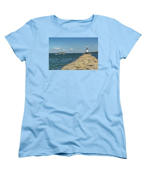 Women's T-Shirt (Standard Cut) featuring the photograph Spring Point Ledge Lighthouse by Jane Luxton