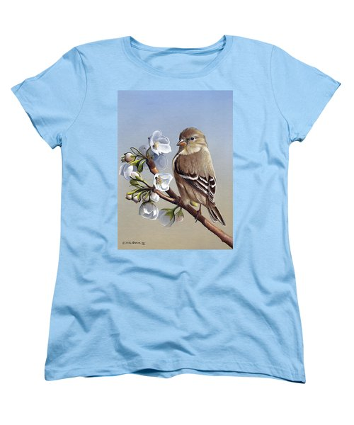 Women's T-Shirt (Standard Cut) featuring the painting Spring Splendor by Mike Brown