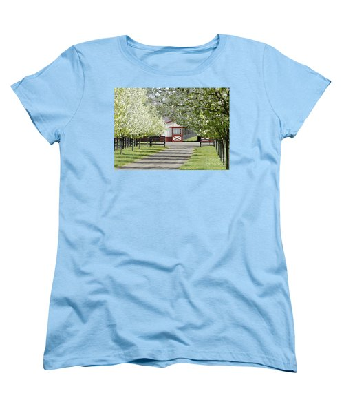 Women's T-Shirt (Standard Cut) featuring the photograph Spring Time At The Farm by Sami Martin
