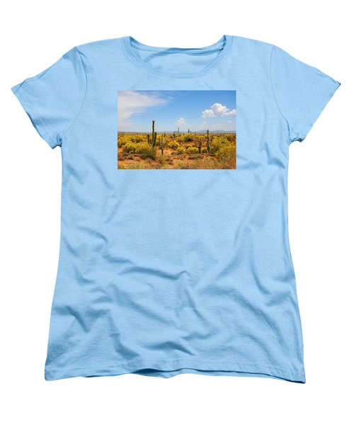Women's T-Shirt (Standard Cut) featuring the digital art Spring Time On The Rolls. by Tom Janca