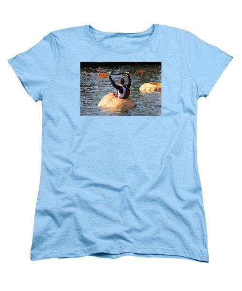 Women's T-Shirt (Standard Cut) featuring the photograph The Great Pumpkin Race by Aaron Berg