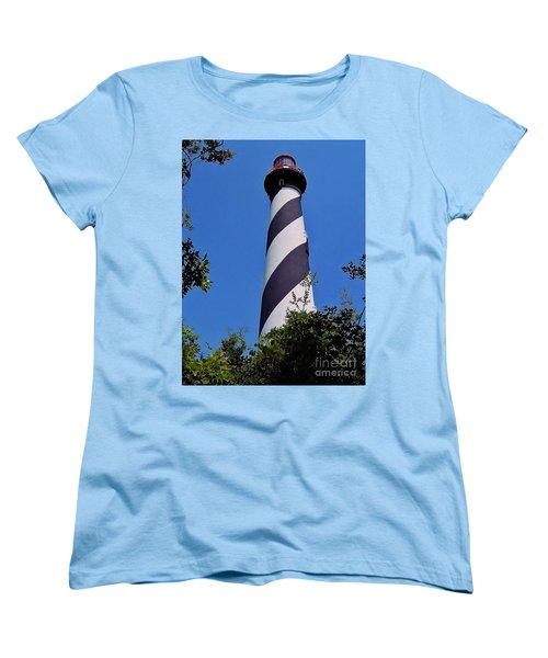 St Augustine Lighthouse Women's T-Shirt (Standard Cut) by D Hackett