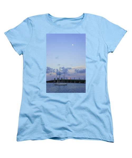 St. Augustine Sunset Women's T-Shirt (Standard Cut) by Laurie Perry