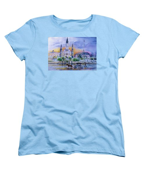 St. Charles New Orleans Sunset Women's T-Shirt (Standard Cut) by Bernadette Krupa