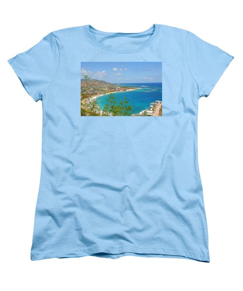 St. Kitts Women's T-Shirt (Standard Cut) by Cindy Manero
