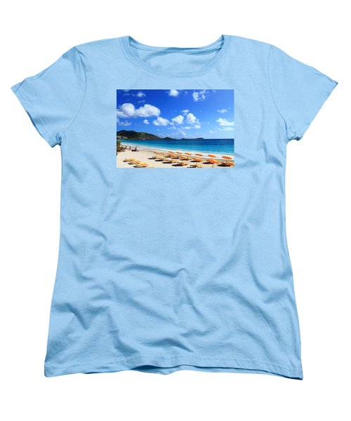 St. Maarten Calm Sea Women's T-Shirt (Standard Cut) by Catie Canetti
