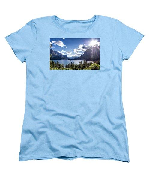 St. Mary Lake Women's T-Shirt (Standard Cut) by Aaron Aldrich