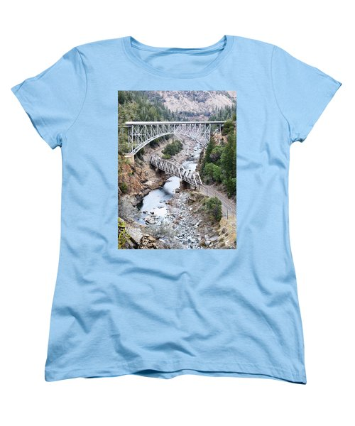 Stacked Bridges Women's T-Shirt (Standard Cut) by Holly Blunkall