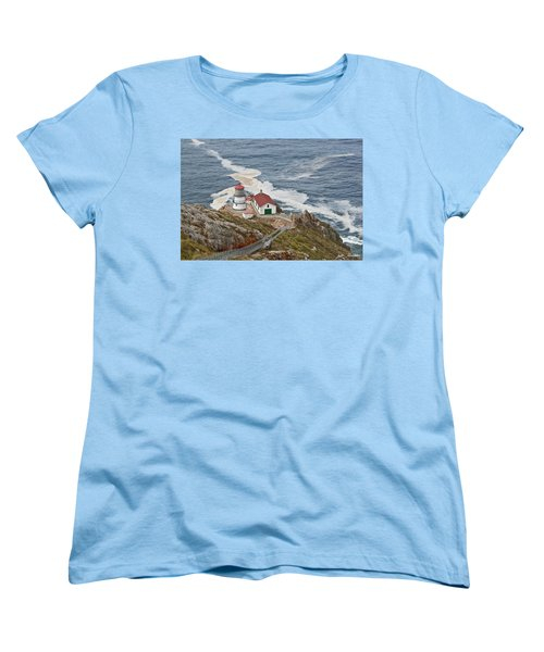 Women's T-Shirt (Standard Cut) featuring the photograph Stairway Leading To Point Reyes Lighthouse by Jeff Goulden