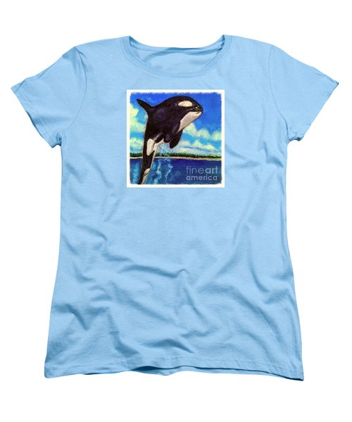 Women's T-Shirt (Standard Cut) featuring the painting Standing Above The Rest by Kimberlee Baxter