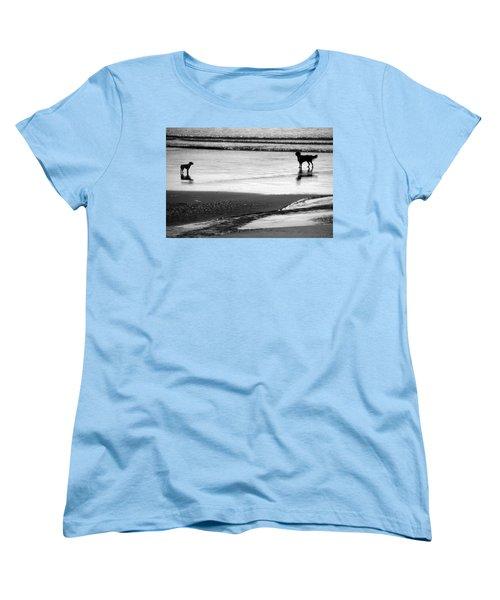 Standoff At The Beach Women's T-Shirt (Standard Cut) by Aidan Moran