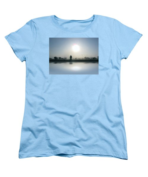 Starlings Misty Morning Women's T-Shirt (Standard Cut) by Cedric Hampton