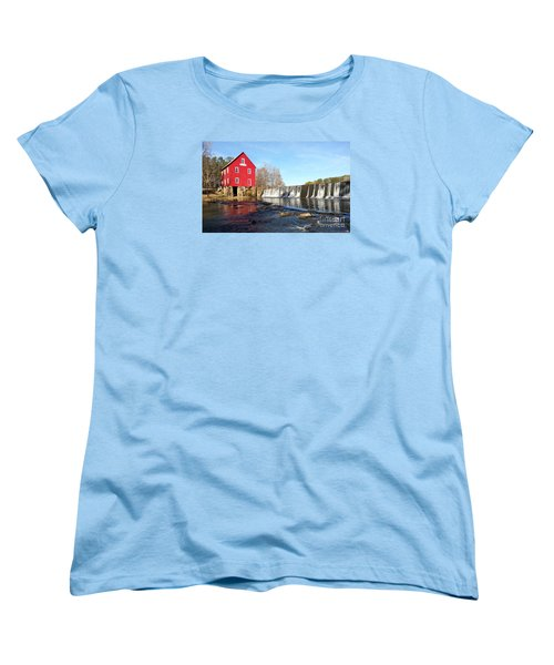 Women's T-Shirt (Standard Cut) featuring the photograph Starr's Mill In Senioa Georgia 3 by Donna Brown