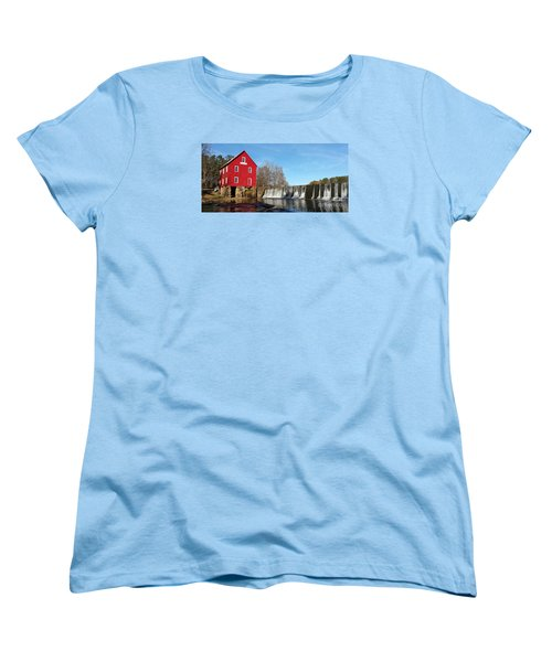 Women's T-Shirt (Standard Cut) featuring the photograph Starr's Mill In Senioa Georgia by Donna Brown