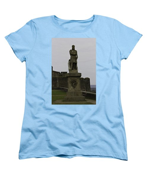 Statue Of Robert The Bruce On The Castle Esplanade At Stirling Castle Women's T-Shirt (Standard Cut) by Ashish Agarwal