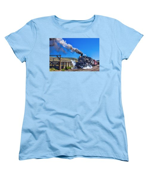 Steam Engine Relic Women's T-Shirt (Standard Cut) by Steven Bateson