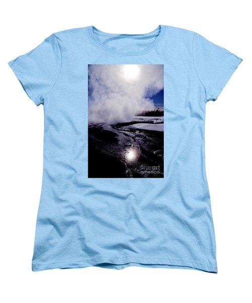 Women's T-Shirt (Standard Cut) featuring the photograph Steam by Sharon Elliott