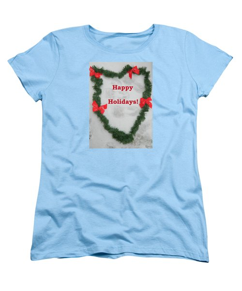 Women's T-Shirt (Standard Cut) featuring the photograph Stepping Into The Holidays by Emmy Marie Vickers