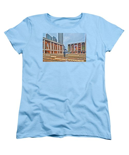 Steps To Fame Lincoln Center Women's T-Shirt (Standard Cut) by Jeffrey Friedkin