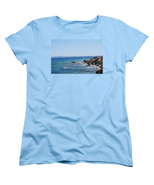 Women's T-Shirt (Standard Cut) featuring the photograph Stiff Breeze by George Katechis