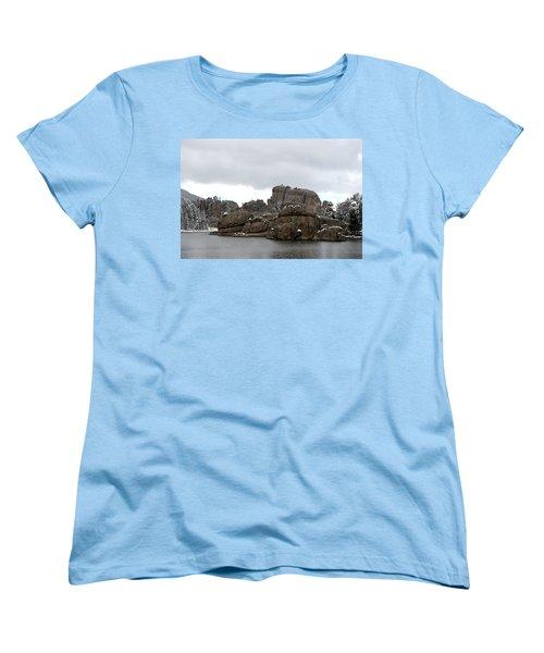 Sylvan Lake In October Women's T-Shirt (Standard Cut) by Clarice  Lakota