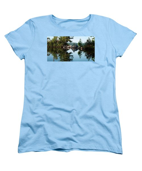 Women's T-Shirt (Standard Cut) featuring the photograph Stone Stacking by Joy Nichols