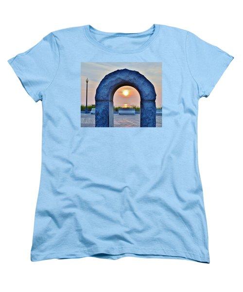 Sunrise Through The Arch - Rehoboth Beach Delaware Women's T-Shirt (Standard Cut)