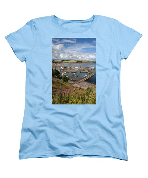 Stonhaven Harbour  Scotland Women's T-Shirt (Standard Cut) by Jeremy Voisey