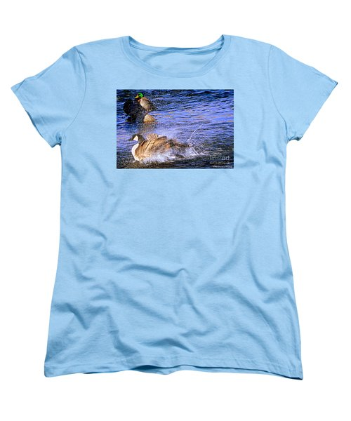 Stop Splashing Women's T-Shirt (Standard Cut) by Bobbee Rickard
