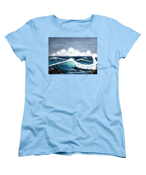 Storm At Sea Women's T-Shirt (Standard Cut) by Barbara Griffin