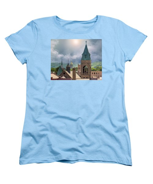 Storm Clouds In Charleston Wv Women's T-Shirt (Standard Cut) by Mary Almond