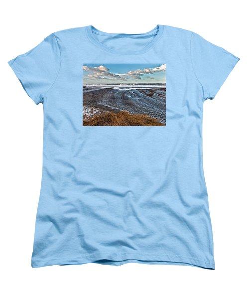 Stormy Beach Women's T-Shirt (Standard Cut) by Mike Santis