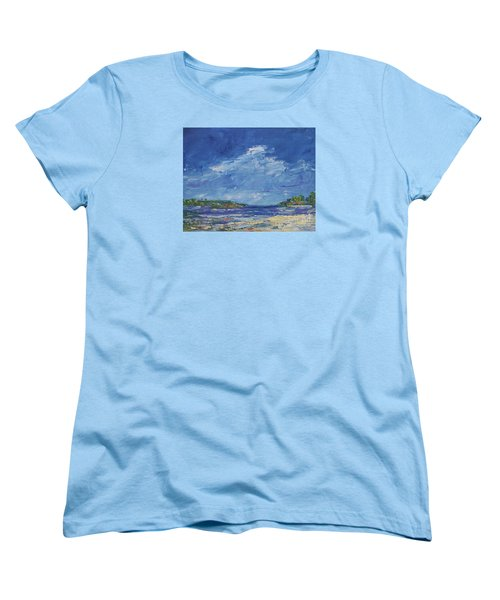 Stormy Day At Picnic Island Women's T-Shirt (Standard Cut) by Gail Kent
