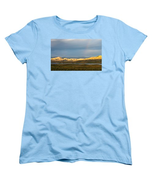 Stormy Sky With Rays Of Sunshine Women's T-Shirt (Standard Cut) by Nadja Rider