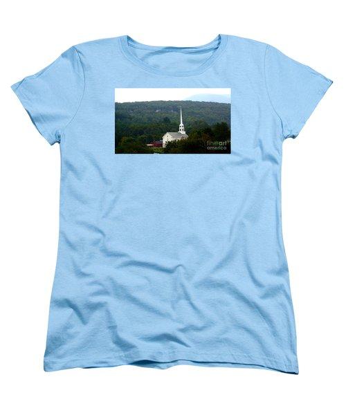 Women's T-Shirt (Standard Cut) featuring the photograph Stowe Community Church by Patti Whitten